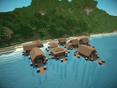minecraft island village - Google Search