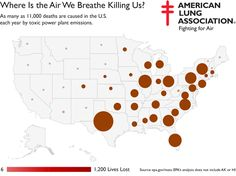 Map shows the worst air inAmerica