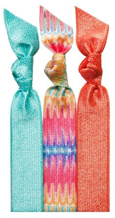 Colorful summer hair ties that won't hurt your hair.