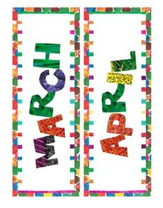 Eric Carle Inspired Classroom – Months of the Year – Calendar Headings - New Deko Sites Hungry Caterpillar Classroom, Caterpillar Preschool, Very Hungry Caterpillar, Preschool Decor, Kindergarten Classroom, Classroom Themes, Autism Classroom, Class Design, Eric Carle