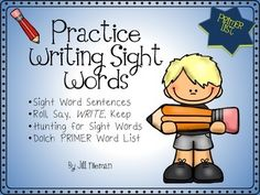 Get your students writing their sight words in sentences and in word work stations. This product focuses on the Dolch PRIMER List. Students use the sight words in a sentence using no prep worksheets. The first two worksheets offer a traceable model sentence.