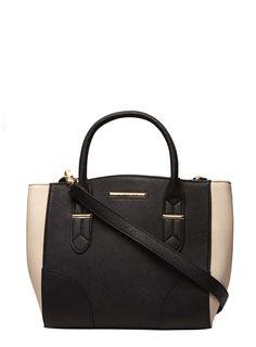 f6f3870d3f Tan Faux Suede Mini Panel Tote Bag Harajuku Fashion