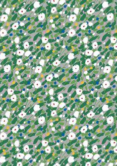 Kesäheinä fabric / Design by Aino-Maija Metsola for Marimekko #MarimekkoSS14 #Marimekko #MarimekkoSpring