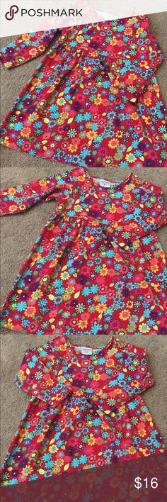 G.W!ll!kers 3T Red Floral Print Dress Beautiful G.W!ll!kers 3T Dress- runs a little on the big side which is great (daughter wore it when she was 4)- Red with floral print-excellent condition-only worn once- smoke free home-BUNDLE AND SAVE G.W!ll!kers Dresses Casual