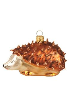 Nordstrom at Home Nordstrom at Home Handblown Glass Hedgehog Ornament available at #Nordstrom