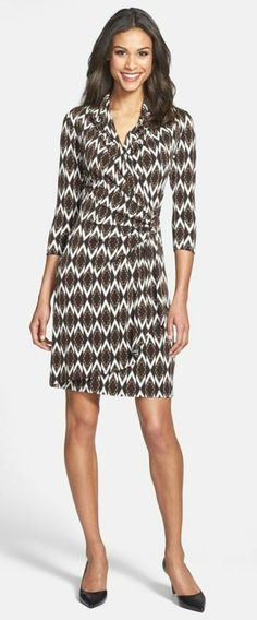 LOVE wrap dresses and this one is perfect for work. @Nordstrom