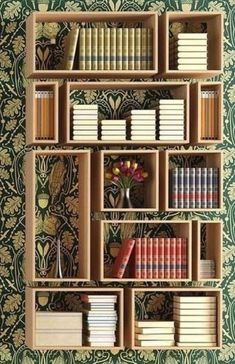 Pretty bookshelves that you can make by yourself. DIY bookshelves that will decorate your home and will give you some storage space where you can store all your books. Cool Bookshelves, Bookshelf Design, Bookshelf Ideas, Bookshelf Styling, Simple Bookshelf, Bookcase Decorating, Open Bookcase, Diy Bookcases, Wall Mounted Bookshelves