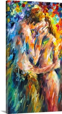 Last Kiss by Leonid Afremov Handmade oil painting reproduction on canvas for sale,We can offer Framed art,Wall Art,Gallery Wrap and Stretched Canvas,Choose from multiple sizes and frames at discount price. Oil Painting On Canvas, Painting & Drawing, Kiss Painting, Painted Canvas, Big Canvas, Hand Painted, Art Amour, Art Abstrait, Erotic Art