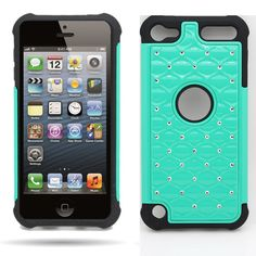 Apple iPod Touch 5 Diamond Spot Hybrid Case Heavy Duty Cover | eBay    I like this one a lot too (Ssh)