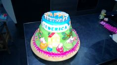 Cake Peppa pig, family Peppa pig, birthday, torta di Peppa pig, pdz, fondant, mmf, pasta di zucchero.