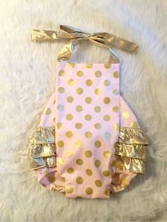 Pink and Gold polka dot First birthday by EverAfterFairytales