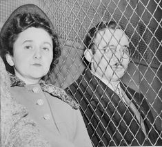 Julius (b. 1915) & Ethel (1918) Rosenberg.  American communists who were convicted and executed on June 19, 1953 for conspiracy to commit espionage during a time of war. Their charges were related to the passing of information about the atomic bomb to the Soviet Union. This was the first execution of civilians for espionage in United States history.