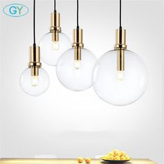 Cheap modern led pendant lights, Buy Quality led pendant light directly from China designer pendant light Suppliers: Art Designer Modern LED pendant light black gold glass kitchen dining room hanging lamp LED bar restaurant home pendant lights