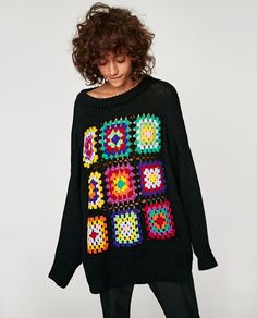 Transcendent Crochet a Solid Granny Square Ideas. Inconceivable Crochet a Solid Granny Square Ideas. Crochet Bolero, Crochet Cardigan, Crochet Lace, Crochet Granny, Crochet Sweaters, Crochet Motif, Casual Autumn Outfits Women, Casual Winter, Casual Outfits