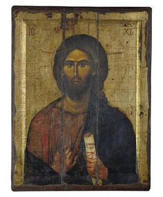 Jesus Christ (Engraved old - looking icon - S-EW Series) Christ Pantocrator, Gold Background, Religious Icons, Persecution, Byzantine, Jesus Christ, Christianity, Carving, Faith