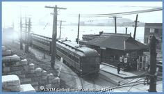MONTRÉAL, Québec - East End station, Victoria Br Montreal & Southern Counties RR CSTM Of Montreal, Old Photos, 1950s, The Neighbourhood, Canada, Victoria, Train, Memories, Places