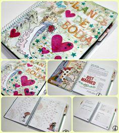 Agenda para novias: PLANIFICADORA DE BODA. Made by Bienve P. http://cinderellatmidnight.com/2014/06/16/quiero-comer-perdices-contigo-y-truquito-para-tintas-distress-mini/