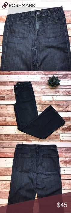 """Vince size 30 Fonda Flare trouser jeans Vince size 30 Fonda Flare trouser jeans.  Wide leg High waist. Sierra wash. Length 33"""" Rise 11"""" leg opening 10"""". No flaws!  Smoke free home 🏡 Vince Jeans Flare & Wide Leg"""