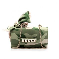 CAMOUFLAGE CLUTCH WITH FOULARD VALENTINO WOMAN
