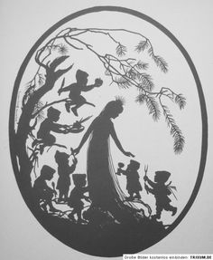 Official Site Beautiful silhouette artwork by premier silhouette artist, Cindi Harwood Rose. View classic, victorian style silhouettes, read the artist bio, and learn the history of fine silhouette art. Snow White Movie, Snow White Doll, Silhouette Artist, Fairy Silhouette, Stencils, Paper Birds, Paper Animals, Illustration, Fairy Art