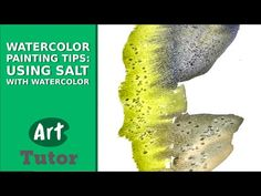 Watercolor Painting Tips: Using Salt with Watercolor Learn Watercolor Painting, Watercolor Video, Watercolor Projects, Watercolour Tutorials, Watercolor Techniques, Painting Techniques, Painting & Drawing, Painting Videos, Painting Lessons