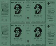 Oscar Wilde, His Life and Confessions volumes 1 and 2 by Frank Harris on Facsimile Dust Jackets, LLC Oscar Wilde, Little Books, Mini Books, Vintage Books, Confessions, Miniatures, Story Books, Printables, Reading