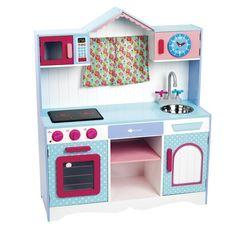 Cocinita de juguete de madera con sonidos