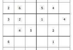 Sudoku para niños de seis