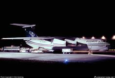 Kosmos Ilyushin Il-76TD cargo RA-76499 aircraft, parked at Germany Dusseldorf International Airport. 27/12/1997.