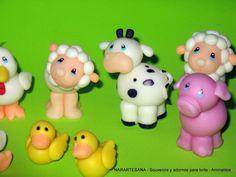 Animales de la granja realizados en Porcelana Fría / Farm animals ...
