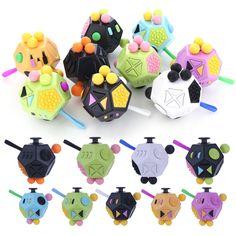 Fidget Cubes II 12 Sides Kid Adult Stress Relief A Vinyl Desk Toys Focus Gifts