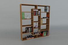 Bibliothèque Ample - Imitation bois