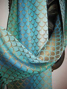 Handwoven Silk Scarf Hand Dyed Silks Accessories by by tisserande $278.88