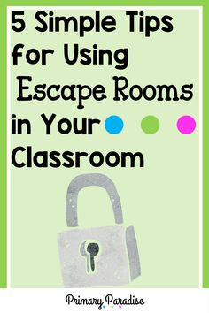 Escape rooms are engaging and fun, but can you incorporate them in your primary classroom? The answer is yes! Your primary students will love completing break out room activities in school, and you'll love how easy they are to implement. They're easier than you think! Here are 5 simple ways to make escape rooms work in your classroom! Classroom Hacks, Primary Classroom, Elementary Teacher, Upper Elementary, Classroom Activities, Subtraction Kindergarten, Subtraction Activities, Measurement Activities, Teacher Organization