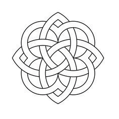 Donatella Celtic Knotwork by Peter Mulkers DraftSight Celtic Circle, Celtic Tree, Celtic Mandala, Stained Glass Projects, Stained Glass Patterns, Celtic Symbols, Celtic Knots, Celtic Tattoos, Tattoo Symbols