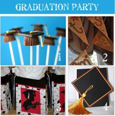 Aren't these the cutest little graduation caps? They are made from chocolate covered graham crackers and mini Reese's Peanut Butter cups. For directions visit Sherra's blog. I used red and blue M & M's since those are our school colors. I also used red and blue Fruit by the Foot for the tassels.  They were a huge hit at the party and disappeared fast!