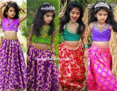 Kids Designer Lehengas by Neetu Lehengas – South India Fashion Kids Saree, Kids Lehenga, Baby Summer Dresses, Dresses Kids Girl, Children Dress, Long Frocks For Kids, Skirts For Kids, Kids Frocks Design, Baby Frocks Designs