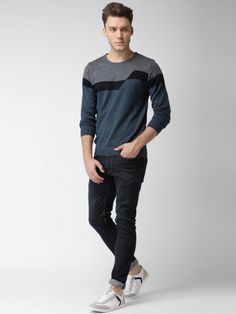 Winter Wear For Men, Normcore, Pullover, How To Wear, Blue, Stuff To Buy, Tops, Style, Fashion