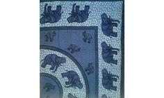 Prehoz double Slony tmavo modrý