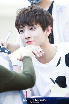 Yeongdeungpo Times Square Fansign Event (6-13-15) #Seventeen #Joshua #Jisoo