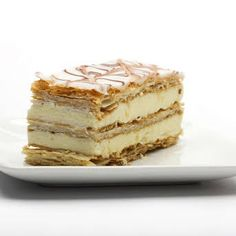 Classic recipe for Napoleon (Mille-Feuille) pastry with custard cream filling and royal icing. Can be made using frozen or homemade puff pastry dough. Easy Pastry Recipes, Puff Pastry Desserts, Köstliche Desserts, Pastry Cake, Dessert Recipes, Puff Pastries, Greek Desserts, Plated Desserts, Italian Recipes