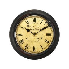 Special Offers - Adeco [CK0055] Antique Vintage Retro Round Decorative Iron Wall Clock Roman Numerals- Home Decor - In stock & Free Shipping. You can save more money! Check It (October 06 2016 at 06:48PM) >> http://wallclockusa.net/adeco-ck0055-antique-vintage-retro-round-decorative-iron-wall-clock-roman-numerals-home-decor/