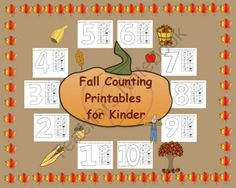 This is a PDF file with 10 pages. Each page contains a large number from and 10 fall pictures. Students look at the number and cut and paste. Numbers Kindergarten, Kindergarten Teachers, Kindergarten Activities, Teacher Resources, Teaching Ideas, Special Needs Students, Happy Fall Y'all, Common Core Math, Kids Learning