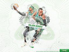 Rajon Rondo Wallpaper – Superstar Series   Posterizes   NBA Wallpapers   Basketball Designs & Artwork