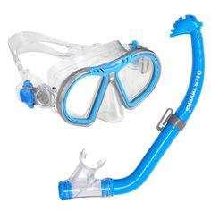 U.S. Divers Toucan PC + Eco Dry Kids Mask & Snorkel Blue