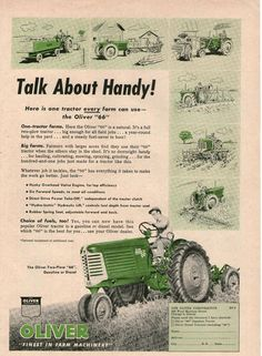 "OLIVER ""66"" Original Farm Ad 1952  7X11"