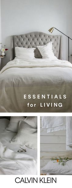 Weekend plans: solved. Define your oasis with essential new bedding from CALVIN KLEIN.