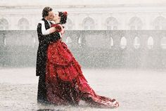 Romola Garai & Michael Fassbender in Angel------Can I be the lady in the Red dress.Im down for this and the red dress Romola Garai, Kissing In The Rain, Steampunk Wedding, Victorian Steampunk, Victorian Gown, Milena, Dress Codes, Camila, Nice Dresses
