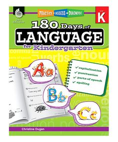 Look at this Kindergarten 180 Days of Language Paperback on #zulily today!