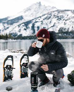 Winter Camping. Coffee #camplife
